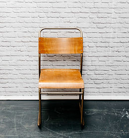 Vintage Wooden Folding Chairs for Hire