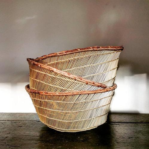 Handwoven Straw Basket