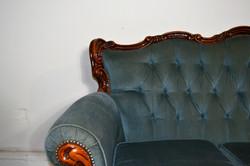 Vintage Teal Sofa