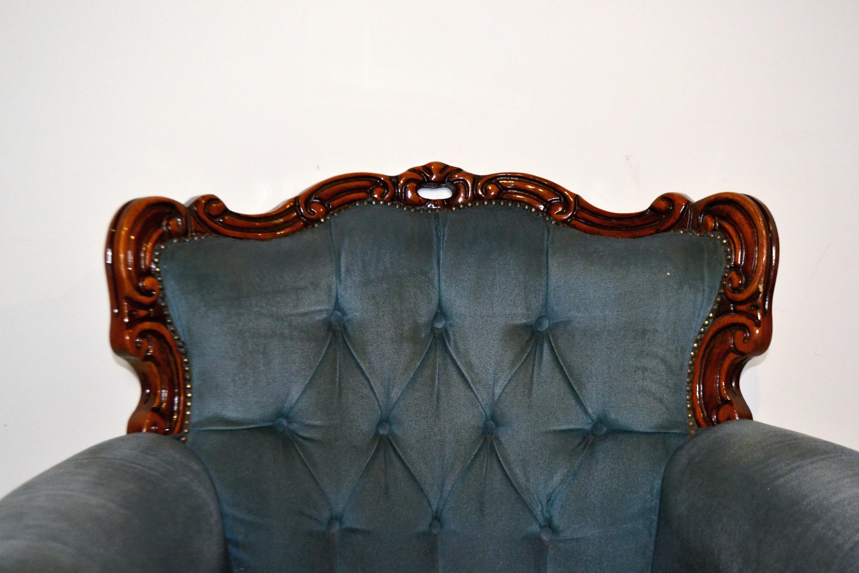 Vintage Teal Armchair