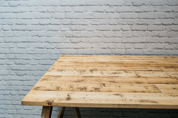 6ft x 3ft Reclaimed Wood Trestle Table