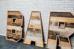 Reclaimed Wood 'BAR'