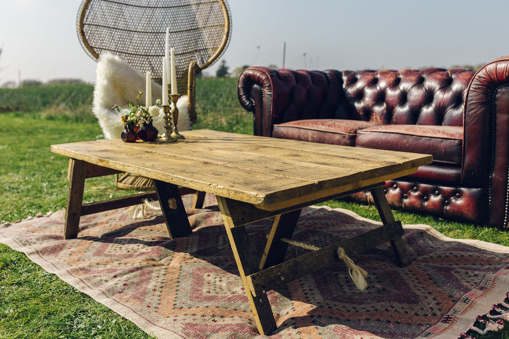 Boho Chesterfield Seating Area