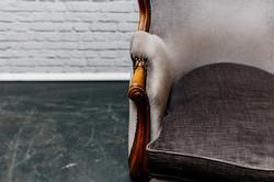 Vintage Grey Armchair