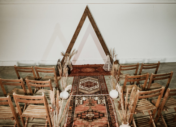 Reclaimed Wood Triangle Arch