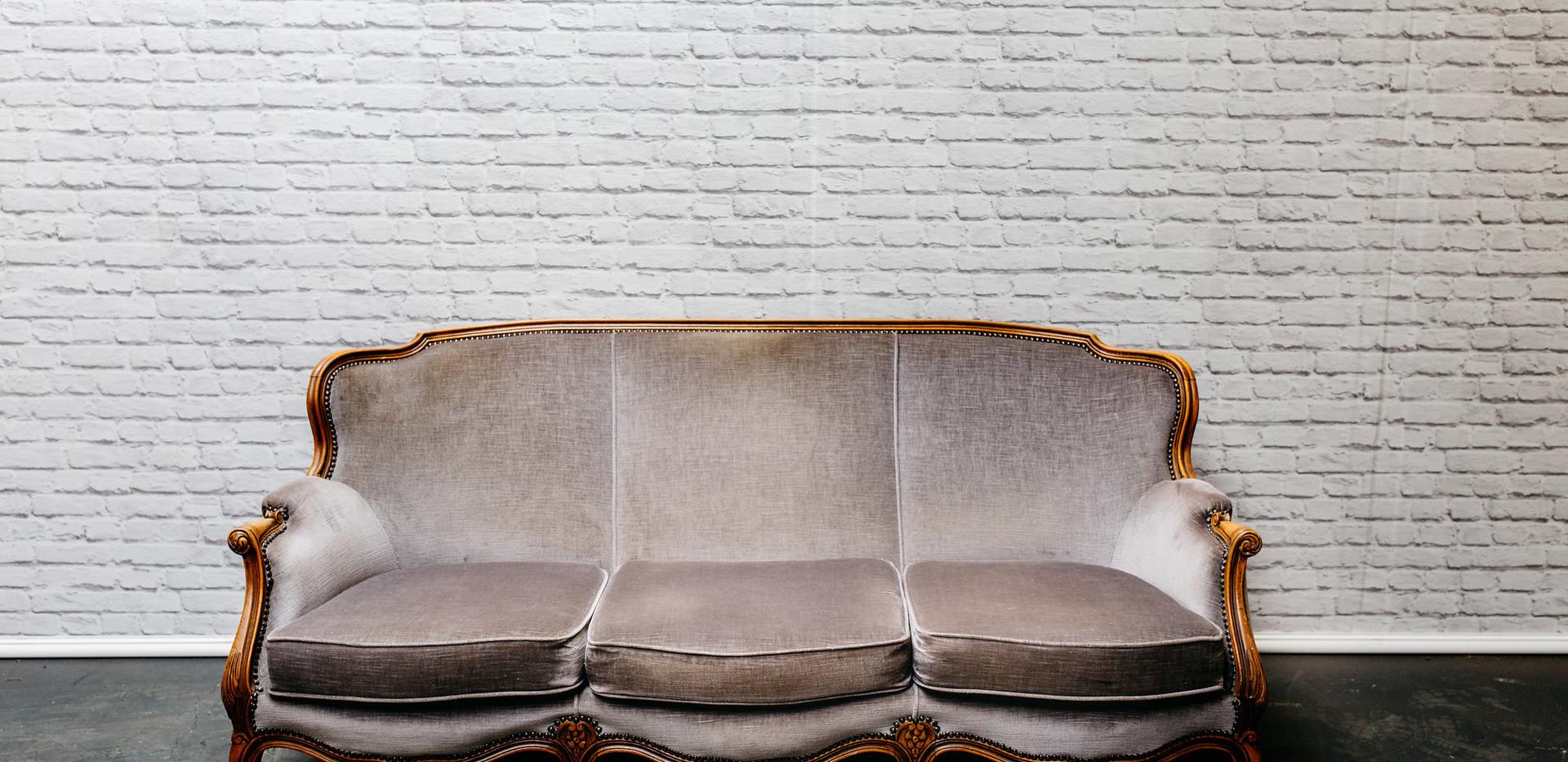 Vintage 'Grey' Sofa