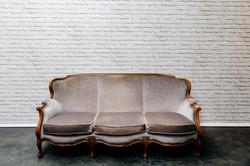 Vintage Grey Sofa