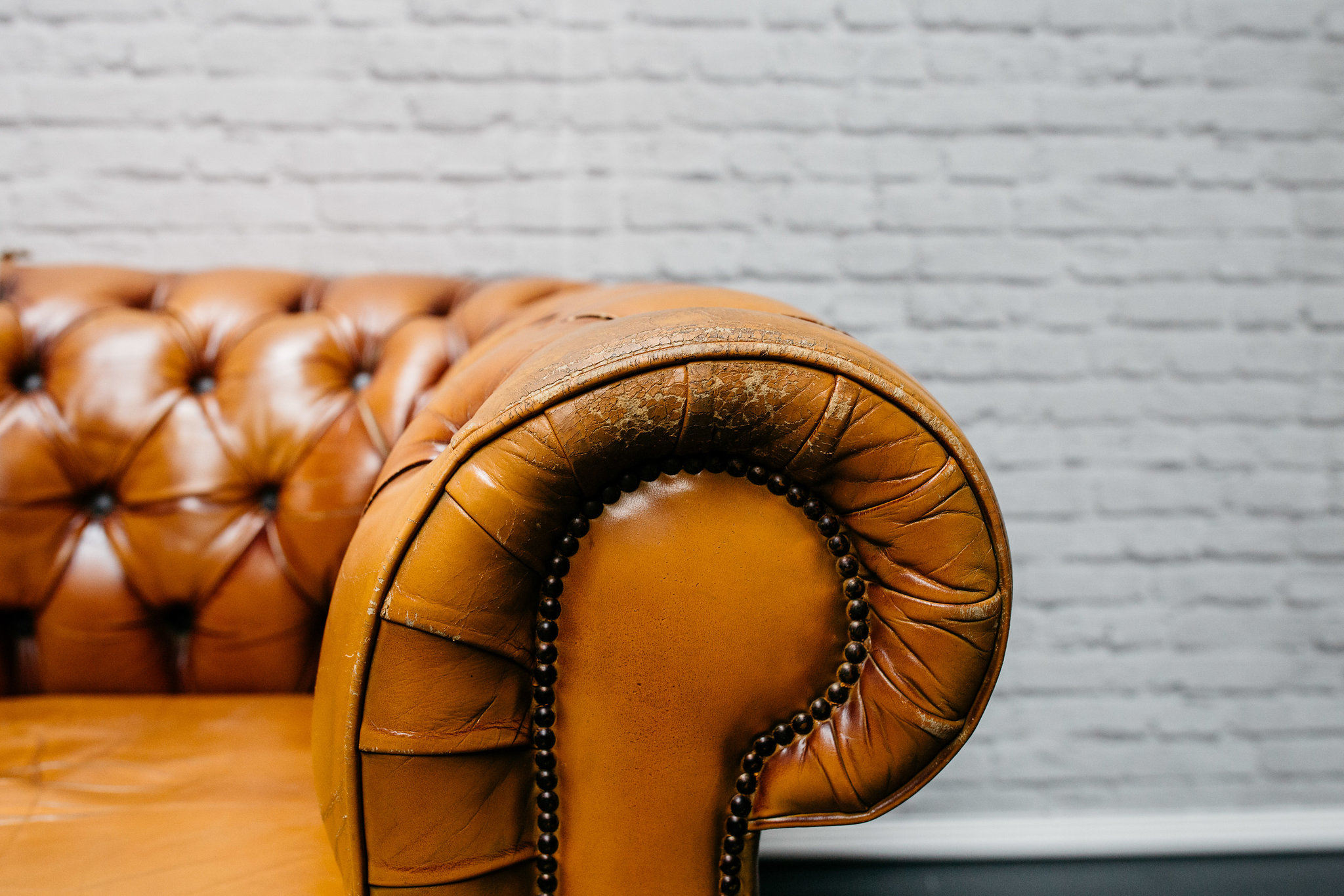 Tan Chesterfield Armchair