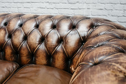 Dark Brown Chesterfield Sofa
