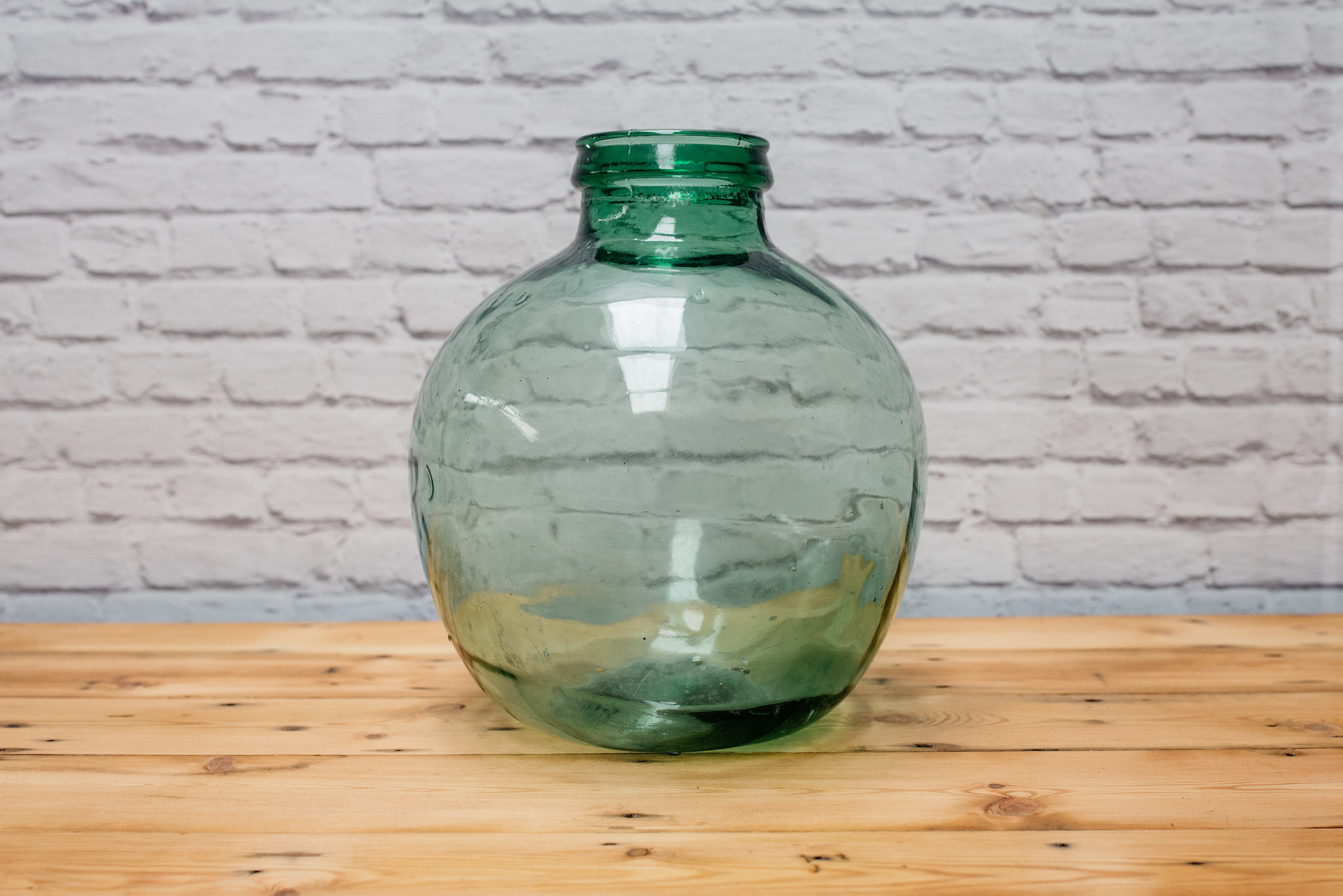 Large Green Glass Vessel