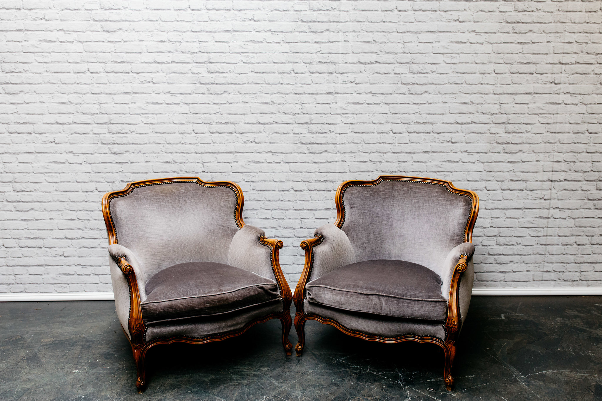 Vintage Grey Armchair