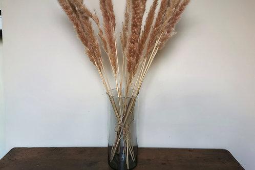 Large Recycled Glass Cylinder Vase
