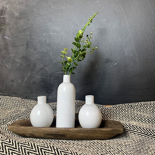 Milk Bottle Vase Tray Set