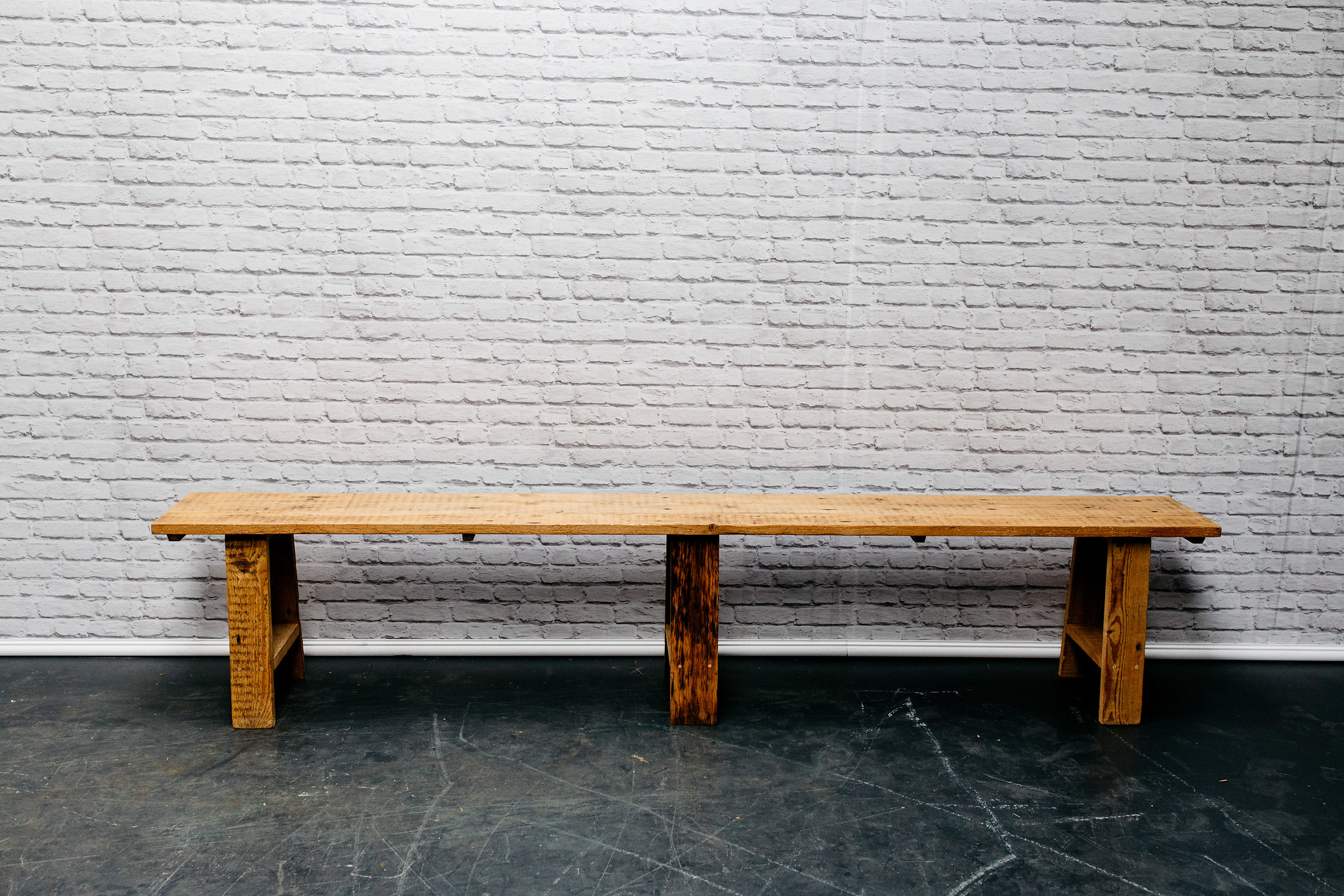 8ft Reclaimed Wood Bench