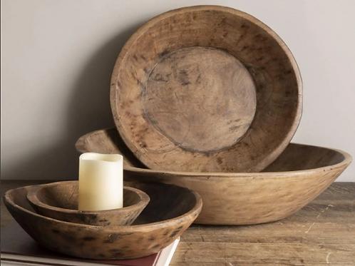 Wooden Rustic Bowl