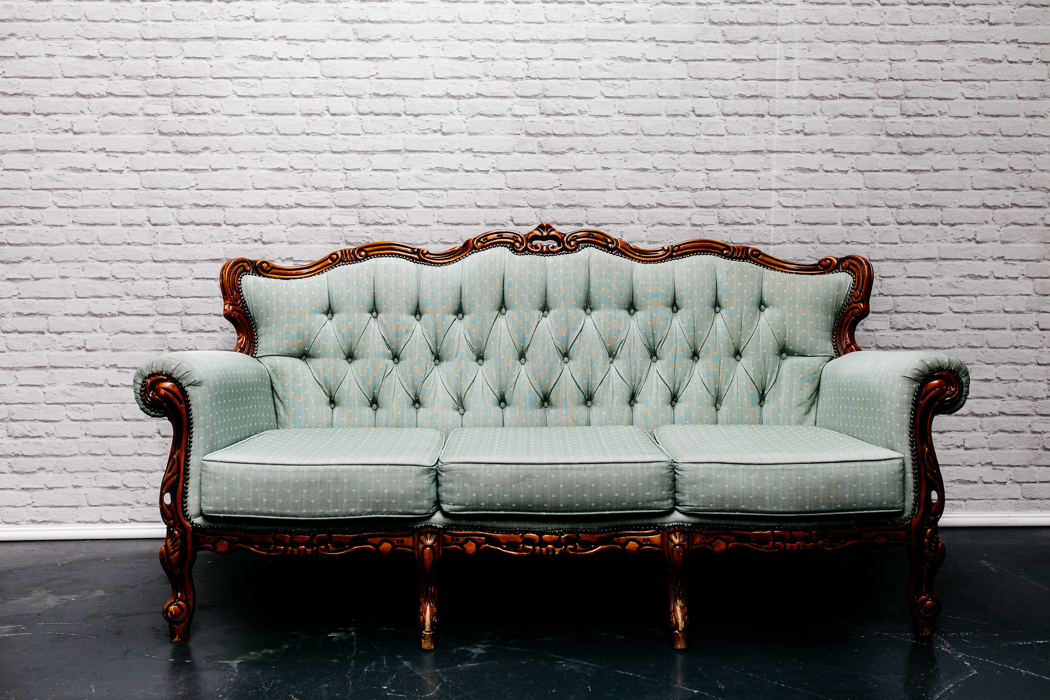 Pale Green Sofa