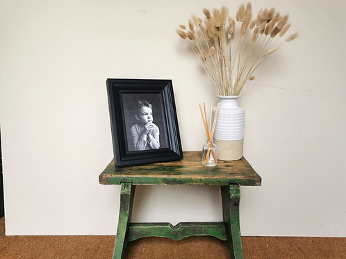 Rustic Wooden Stool / Milking Stool / Rustic Bench / Plant Stand / Occasional Ta