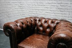 Dark Brown Chesterfield Armchair
