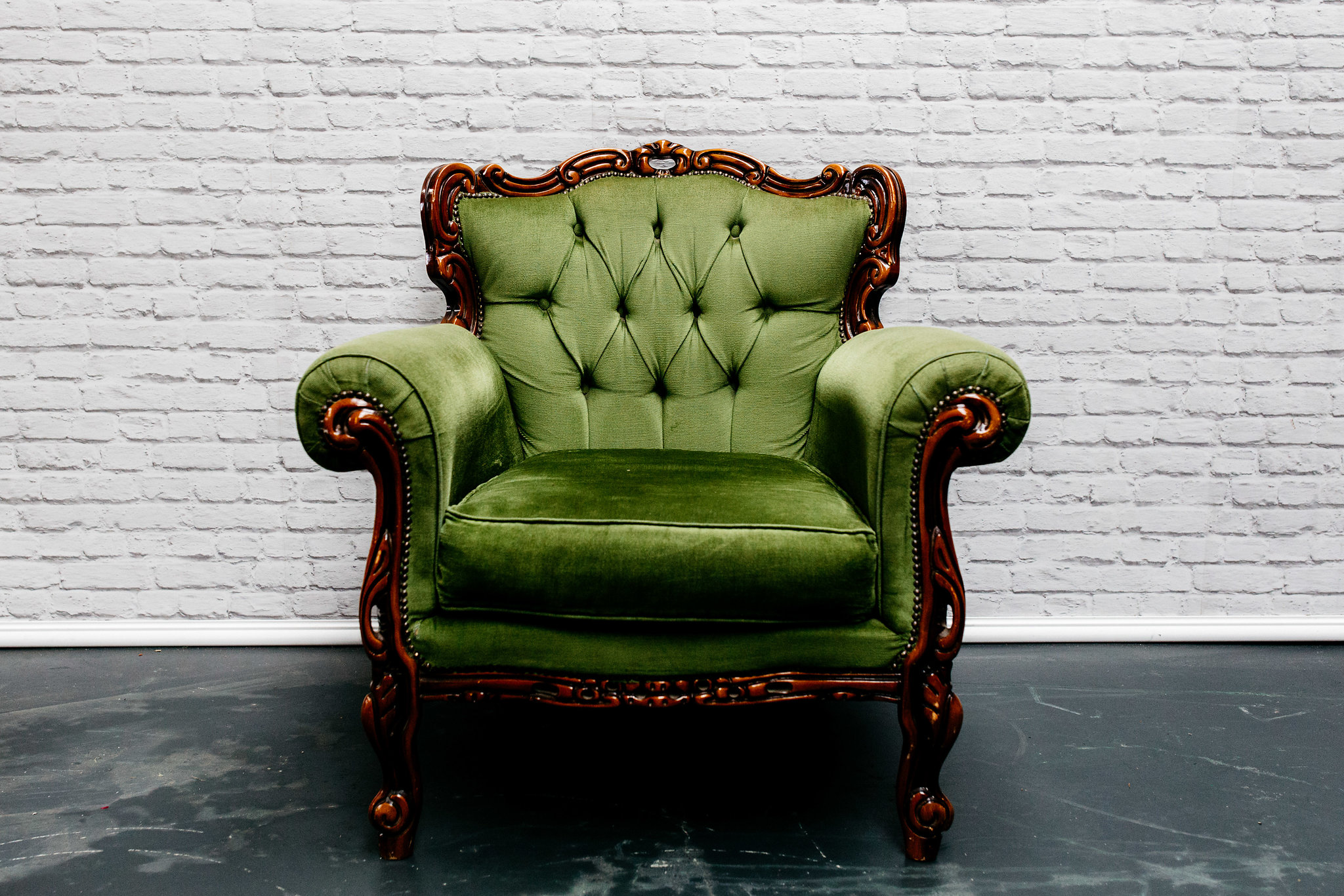 Dark Green Armchair