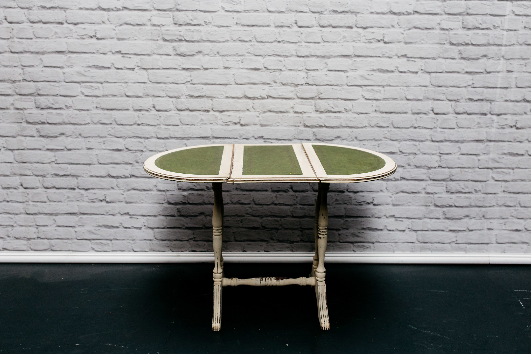 Green In-Lay Side Table