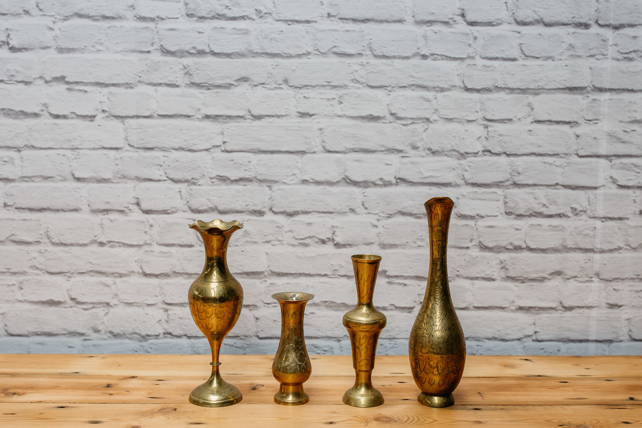 Brass But Vases