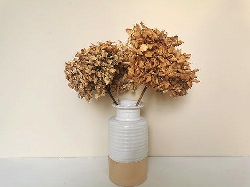 Medium Natural Two Tone Stone & Ceramic Vase
