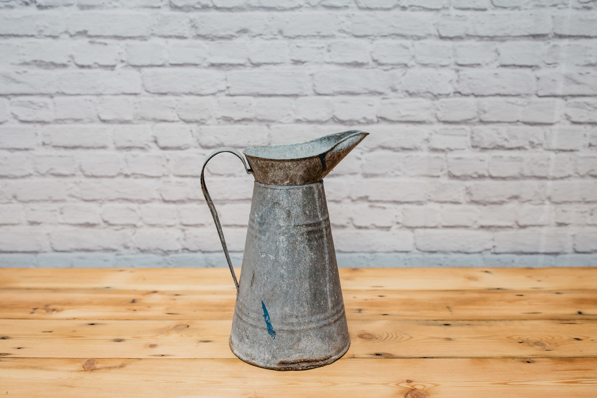 Galvanised Metal Jug