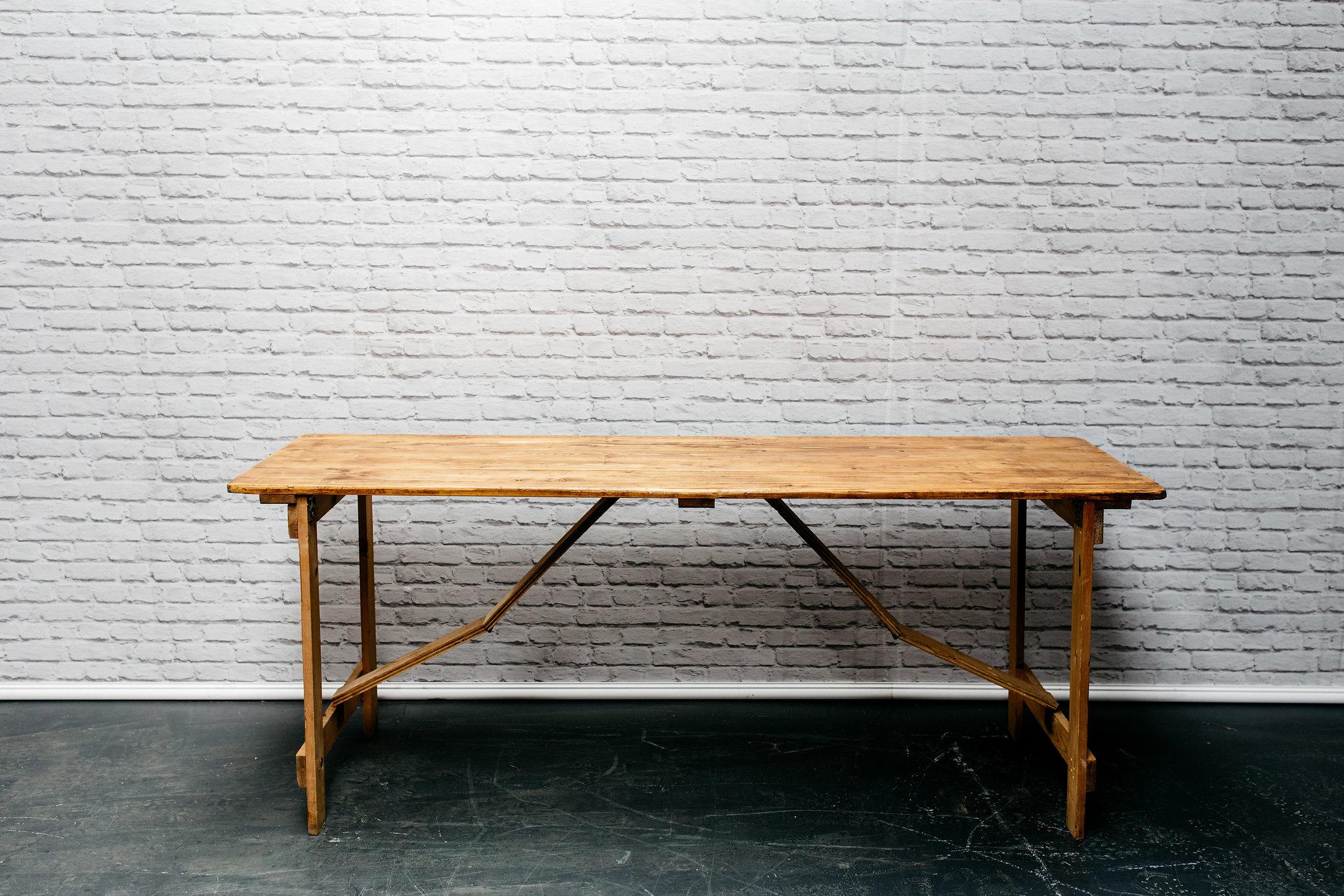 6ft Vintage Style Trestle Table