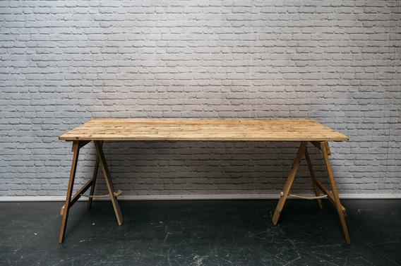 6ft x 3ft Reclaimed Wood Trestle Table