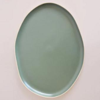 Sage Green Ceramic Serving Platter