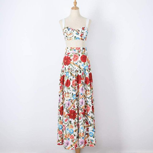 Women's Dress European and American Fashion Personality Floral Big Swing