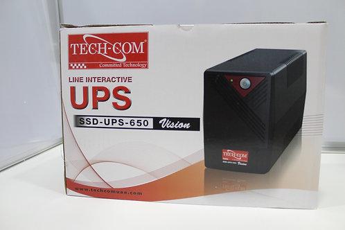 Tech-Com UPS Battery Backup 650V
