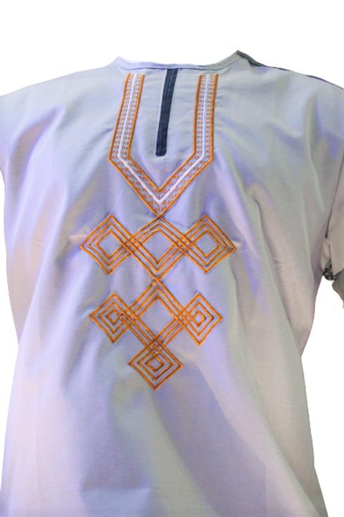 White African Short Sleeve Shirt