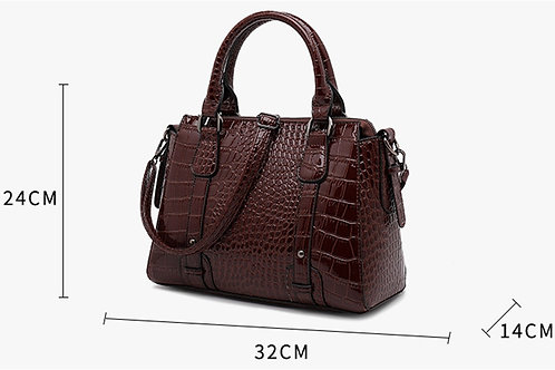 Crocodile Pattern Hand Bag