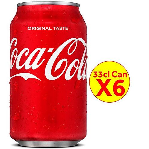Coca-cola 33cl CAN Drink X6 Pcs In A Pack