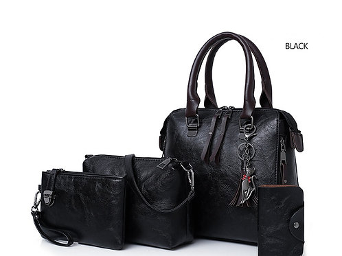 Leather Shoulder Bag 4pcs