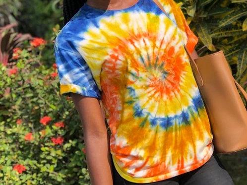 Rainbow Spiral Tie-dye Girls Shirt