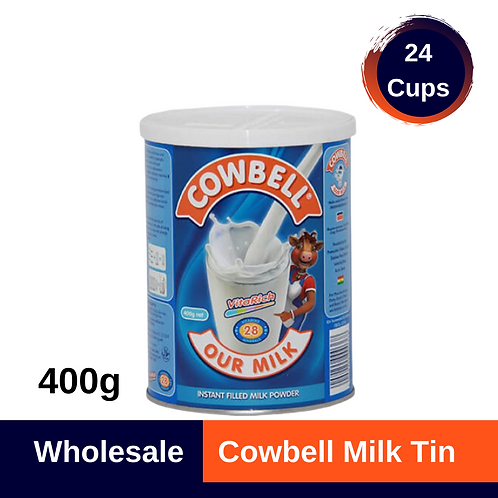 Cowbell Milk Tin 400g x 24 (Cups)