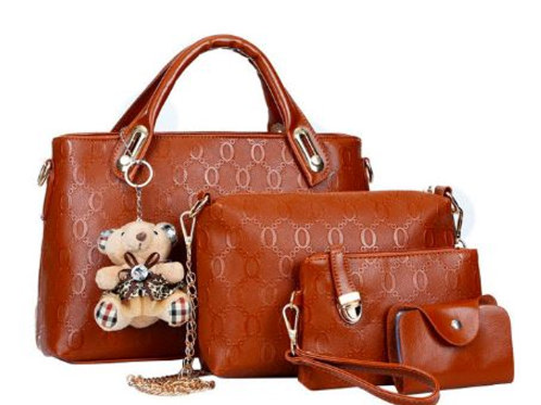 Leather Casual Messenger Tote Bag