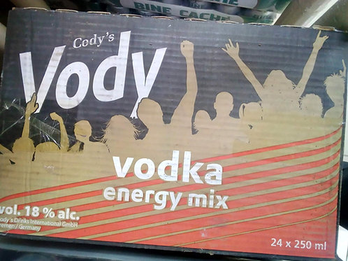 CODY'S VODY Beer Vodka Energy Mix