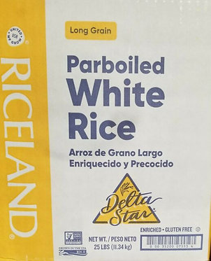 Delta Star Long Grain Parboiled Enriched Gluten White Rice 25lbs(11.34 kg)