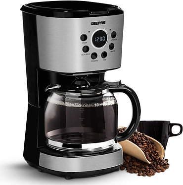 Geepas 1.5L Filter Coffee Machine | 900W Coffee Maker for Instant Coffee, Espres