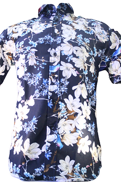 Men's Flourish  Print Short Sleeve Shirt Comfortable