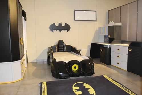 Batman Kid Bedroom Set, wardrobe +bed + 2 light stand + dresser
