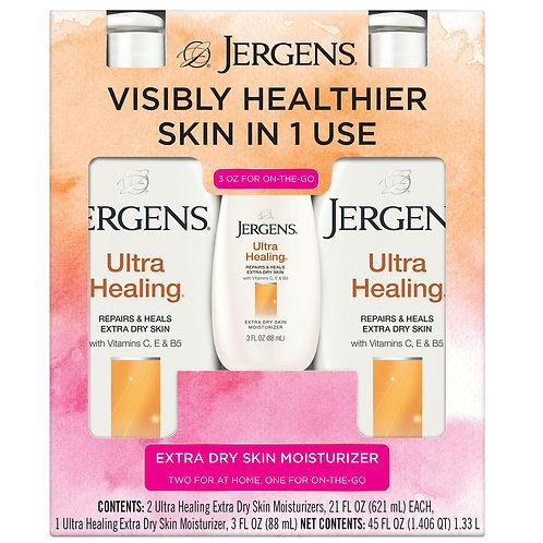 Jergens Ultra Healing Extra Dry Skin Moisturizers (2 - 21 fl. oz. & 1 - 3 oz.)