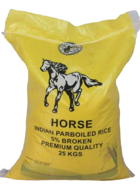 Horse Indian Parboiled Rice (25kg)