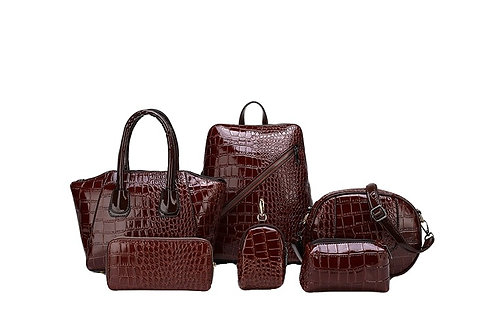 Crocodile Pattern Bag Set 6pcs