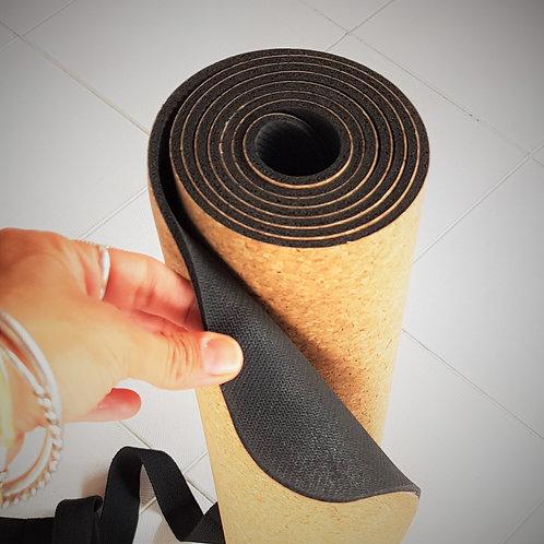 Tapete de Yoga - Cortiça e Borracha Natural