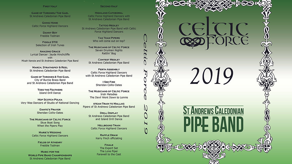 2019 Celtic Force DVD