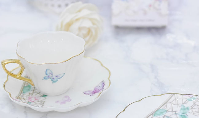 butterfly cup & saucer